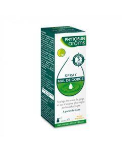 Phytosun Arôms Spray Mal de Gorge Huiles Essentielles 20ml