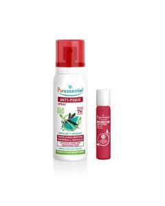 Puressentiel Anti-Pique Duo Spray Réepulsif et Apaisant 75ml + Roller Apaisant 5ml