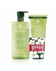 René Furterer Naturia Shampooing Extra Doux 500ml + 200ml Offerts