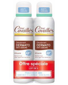 Rogé Cavaillès Déodorant Dermato Anti-Odeurs 48h Lot de 2 x 15ml