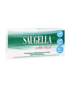 Saugella Cotton Touch Tampon Périodique Normal Boîte de 16