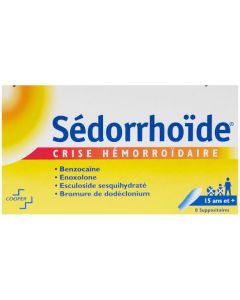 Sedorrhoide crise hémorroidaire suppositoire