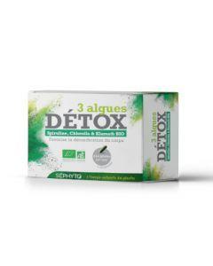 Séphyto Détox 3 Algues Bio 30 Gélules