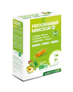 Séphyto Slim Programme Minceur 3 en 1 Bio 30 Ampoules