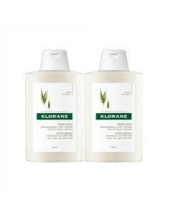 Klorane Shampooing Extra Doux au Lait d'Avoine 2 x 400ml