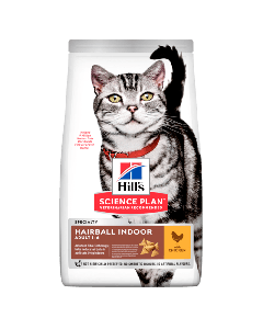 Hill's Science Plan Aliment pour Chat Adulte Hairball au Poulet 1,5kg