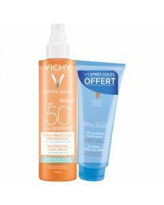 Vichy Ideal Soleil Spray Anti Déshydratation SPF50 200ml + Lait Après Soleil 100ml