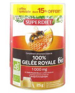 Superdiet 100% Gelée Royale Bio 25g dont 15% Offert