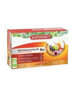 Super Diet Protocole Vitalité Bio 30 Ampoules de 15ml