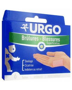 Urgo Brûlures Superficielles Petit Format 6 Tulles