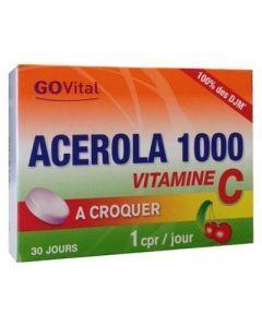 Go Vital Acerola 1000 Vitamine C  30 Comprimés à Croquer