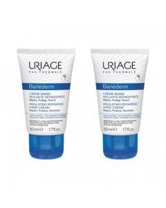 Uriage Bariéderm Crème Mains Isolante Réparatrice 2 x 50ml
