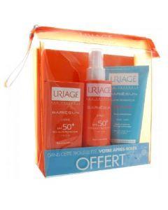 Uriage Kit Solaire Famille Spf50+ Spray + Creme + Baume Reparateur Lot de 3
