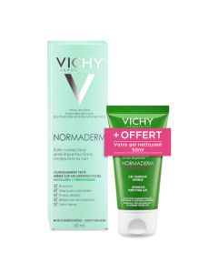 Vichy Normaderm Soin Correcteur Anti-imperfections hydratation 24h 50ml + Gel Nettoyant 50ml offert