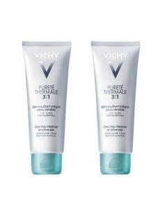 Vichy Pureté Thermale Démaquillant 3 en 1 Intégral Duo 2x300ml