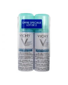 Vichy Déodorant Anti Transpirant Anti Trace Aérosol 48h Lot de 2 X 125ml