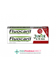 Fluocaril Junior Gel Fruits Rouges 2x75ml