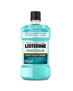 Listerine Bain de Bouche Fraîcheur Goût Plus Léger 500ml