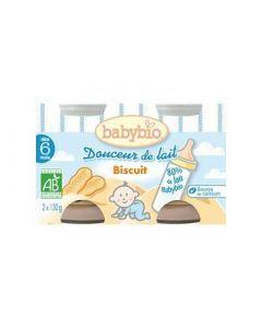 Babybio Douceur de Lait Biscuit 2x130g