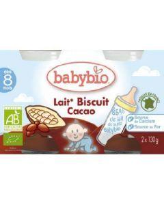 Babybio Douceur de Lait Cacao 2x130g