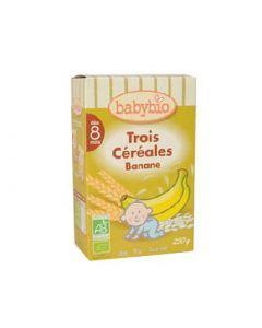 Babybio Trois Céréales Banane 250g