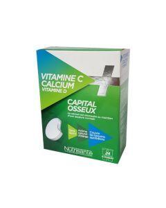 Nutrisanté Vitamine C + Calcium Vitamine D Capital Osseux 24 Comprimés