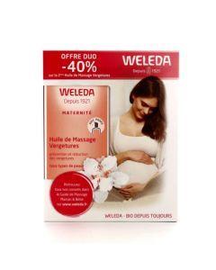 Weleda Coffret Huile de Massage Vergetures 2x100ml