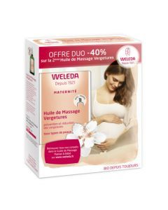 Weleda Huile de Massage Vergetures Lot de 2x100ml